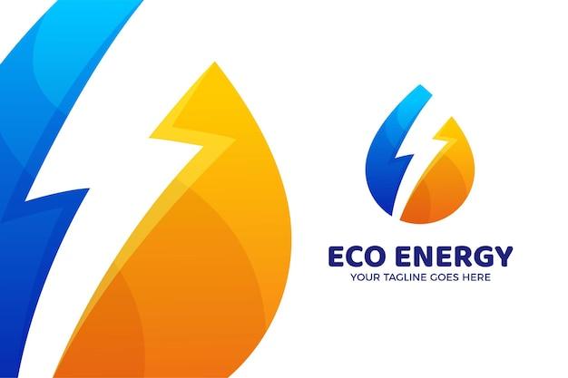Eco energy nature logo vorlage