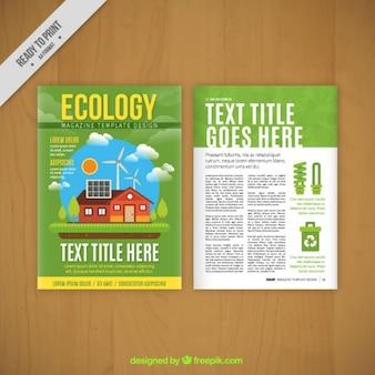 Eco-frendly magazin-vorlage