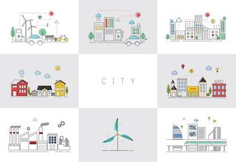 Eco freundliche Stadt Vektor