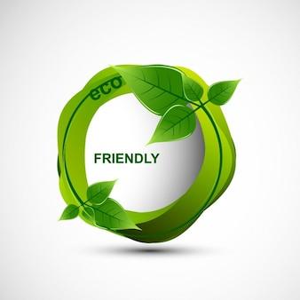 Eco friendly-blätter-entwurf