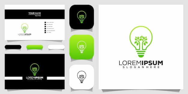 Eco glühbirne logo design