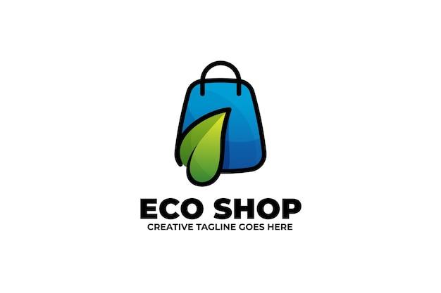 Eco green einkaufstasche monoline logo