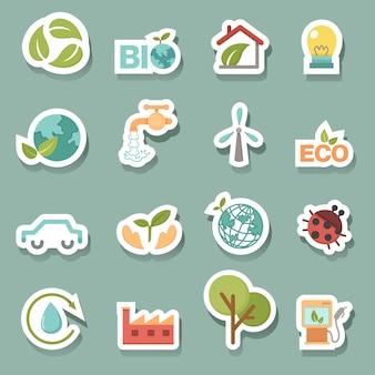 Eco-ikonen stellen vektor ein