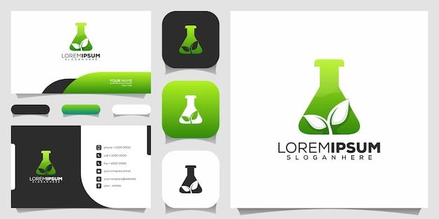 Eco lab logo design Premium Vektoren