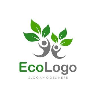 Eco-logo-design-vorlage vektor