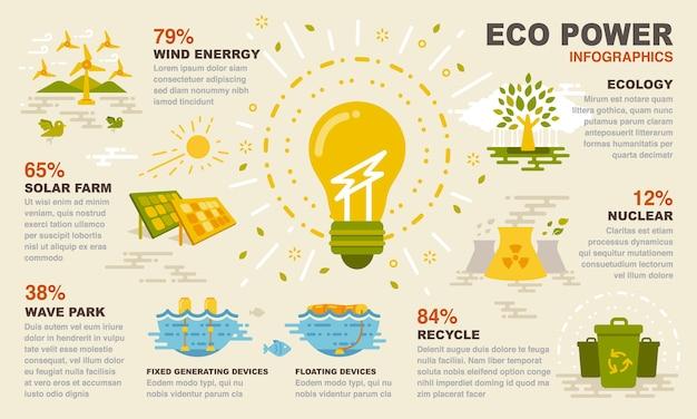 Eco power infografiken.