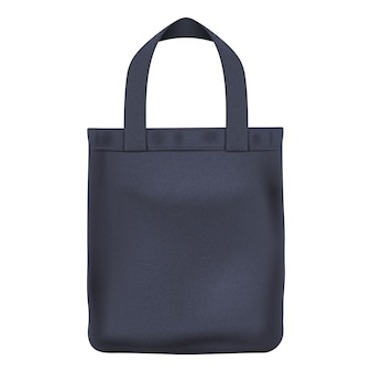 Eco textile schwarze einkaufstasche illustration. gut für das branding.