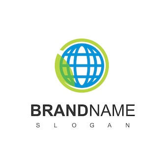 Eco world logo-designvorlage
