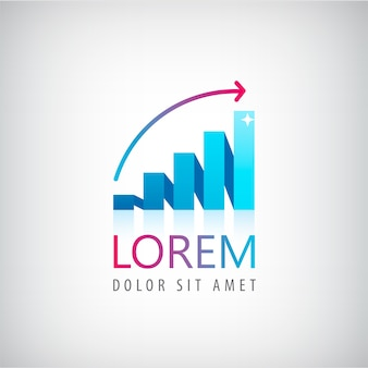 Ector wachsende grafik logo illustration