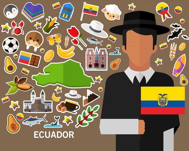 Ecuador konzept hintergrund