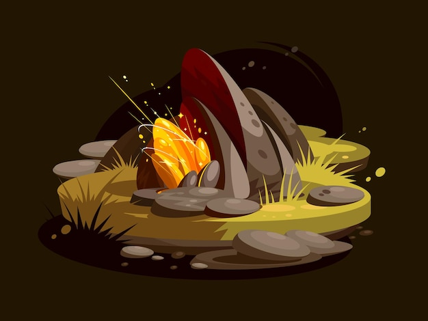 Edelsteingold. brillante luxus leuchtend leuchtende edelsteine. illustration