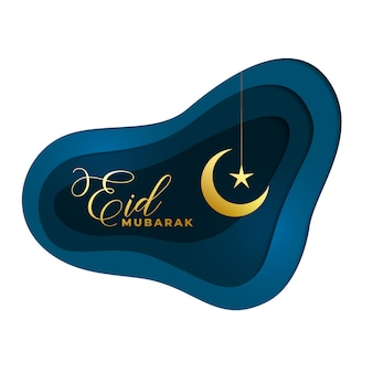 Edi mubarak goldener mond- und sternhintergrund