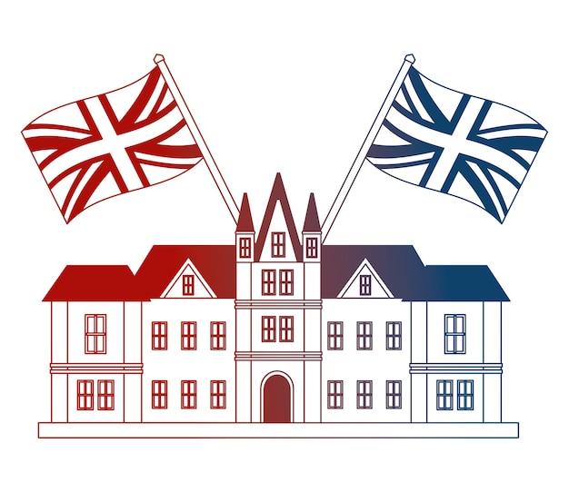 Edinburgh-schloss-großbritannien-flaggen