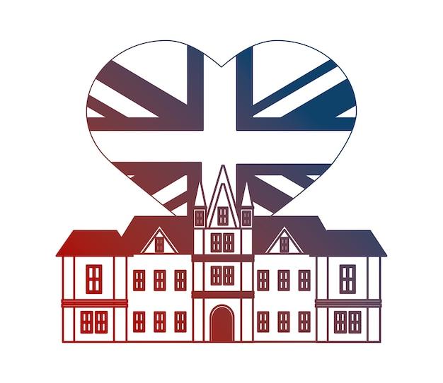 Edinburgh-schloss großbritannien-flaggenherz