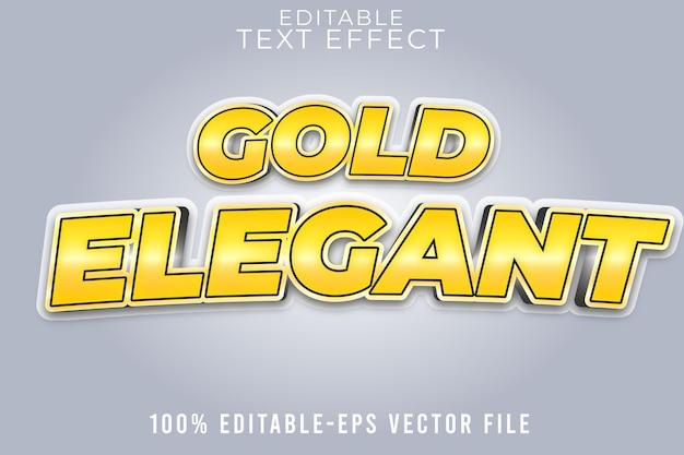 Editable text effekt gold mit elegantem stil