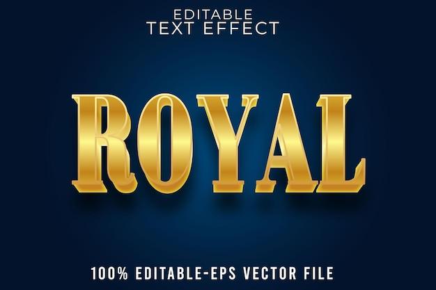 Editable text effekt royal mit luxury style