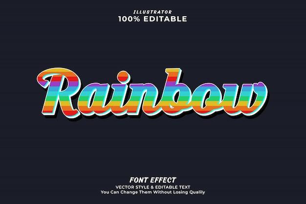 Editable texteffekt des bunten regenbogens