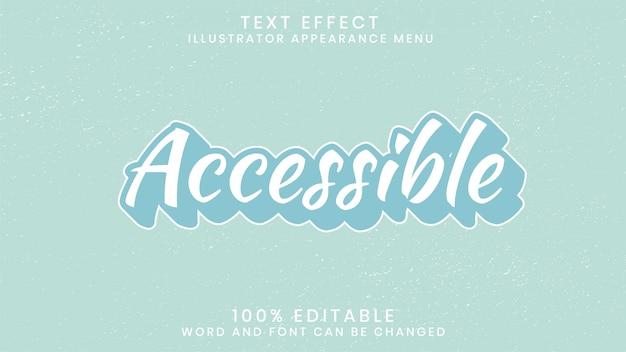 Editierbare texteffekt-stilvorlage
