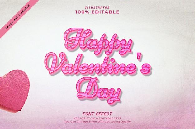 Editierbare texteffektprämie des glücklichen valentinstags