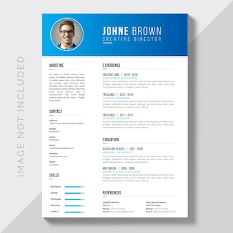 Editierbarer cv-format-download