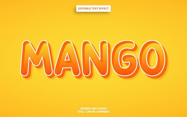 Editierbarer schriftarteffekt der mangofarbart