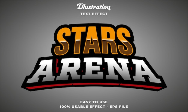 Editierbarer sternen-arena-texteffekt