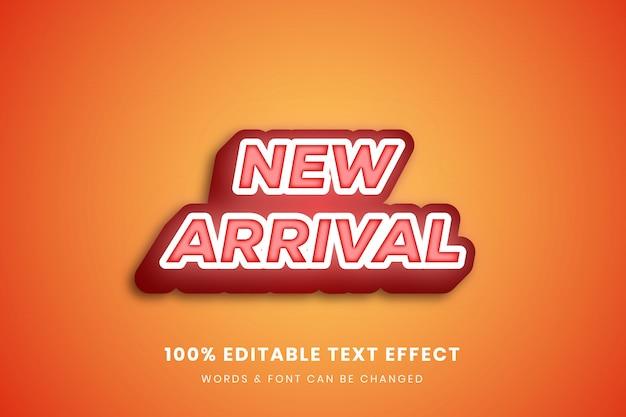 Editierbarer texteffekt der neuankömmling 3d