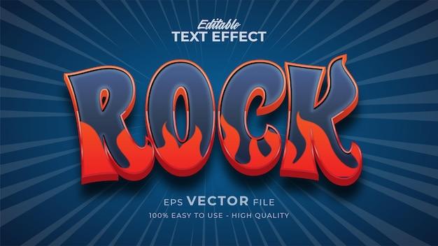 Editierbarer texteffekt für rockmusik