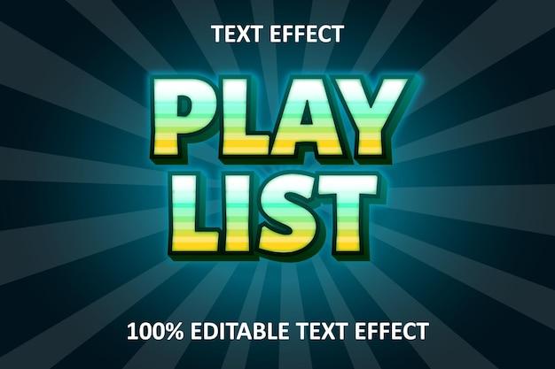 Editierbarer texteffekt grün gelb