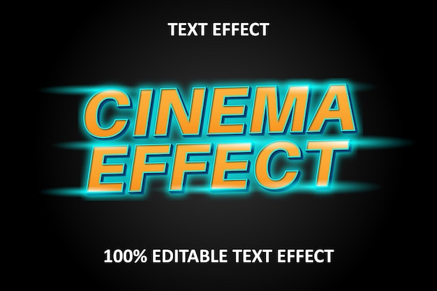 Editierbarer texteffekt orange cyan