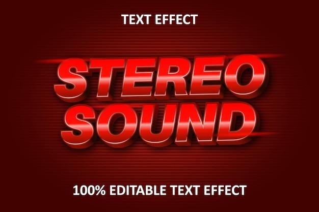 Editierbarer texteffekt rot