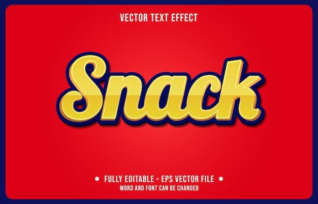 Editierbarer texteffekt-snack gelber moderner stil