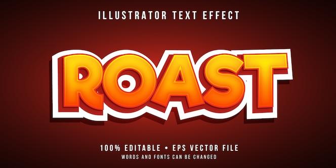 Editierbarer texteffekt - stil für gerösteten text