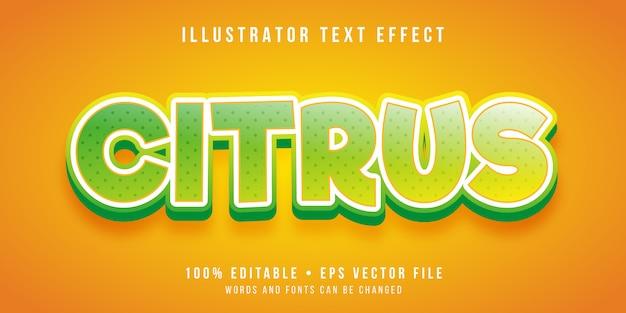 Editierbarer texteffekt - zitrusfruchtart