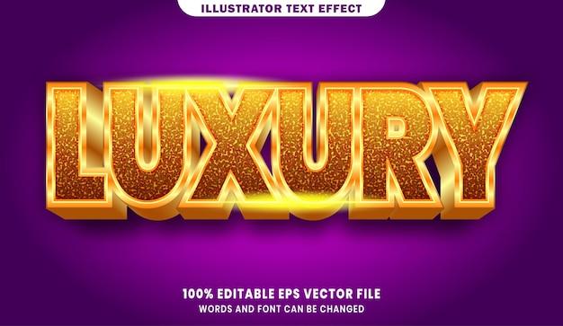 Editierbarer textstileffekt des luxus 3d