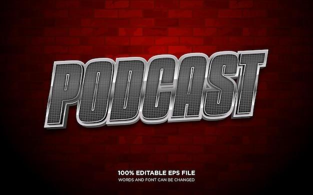 Editierbarer textstileffekt für podcasts