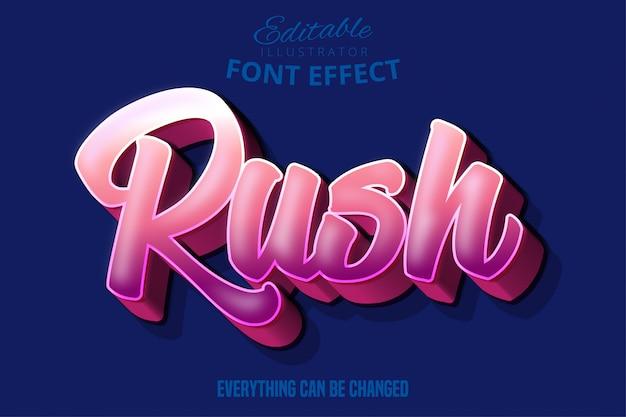Editierbarer typografie-schrifteffekt der modernen jugendschrift