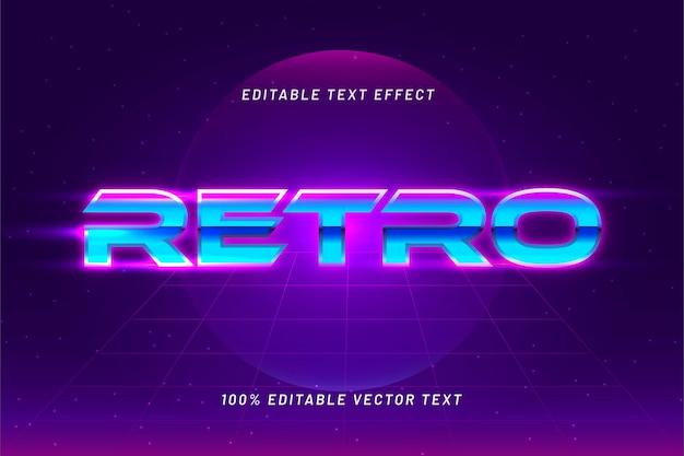 Effekt für bearbeitbaren text im retro-stil