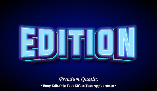 Effekt im 3d-schriftstil der edition