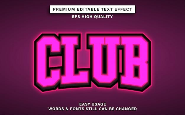 Effekt im clubtextstil