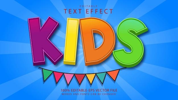 Effekt im textstil für kinder