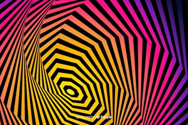 Effekthintergrund der optischen täuschung