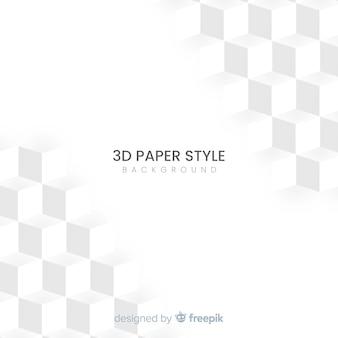 Effekthintergrund des papiers 3d