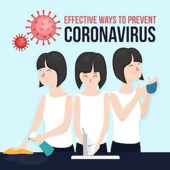 Effektive möglichkeiten zur vorbeugung von coronavirus