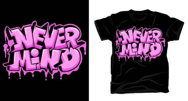 Egal graffiti typografie t-shirt design
