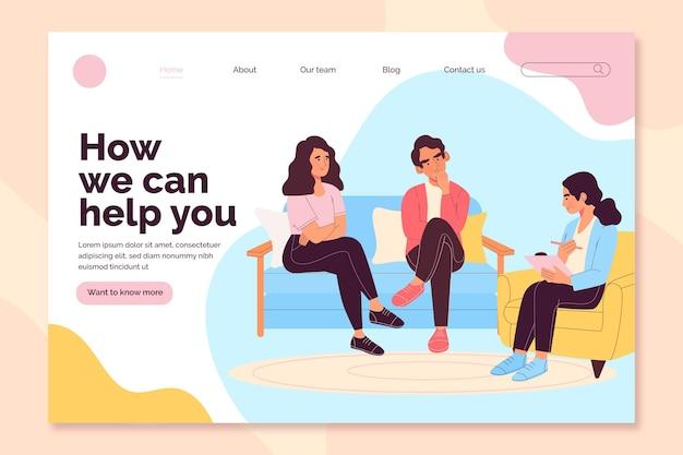 Eheberatung wie können wir helfen, landing page