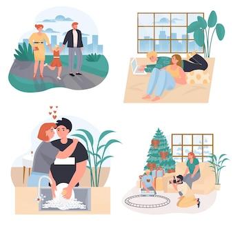 Eheliche beziehungskonzeptszenen eingestellt