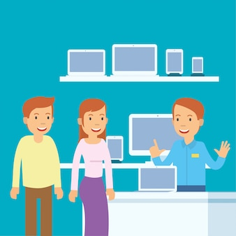 Ehemann und ehefrau, wenn sie computer kaufen sollen