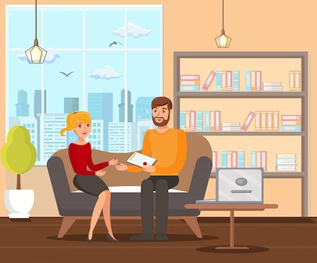 Ehevertragsunterzeichnung flat