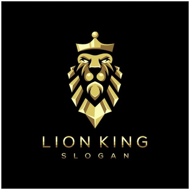 Ehrfürchtige löwekönig-logo-vektorillustration